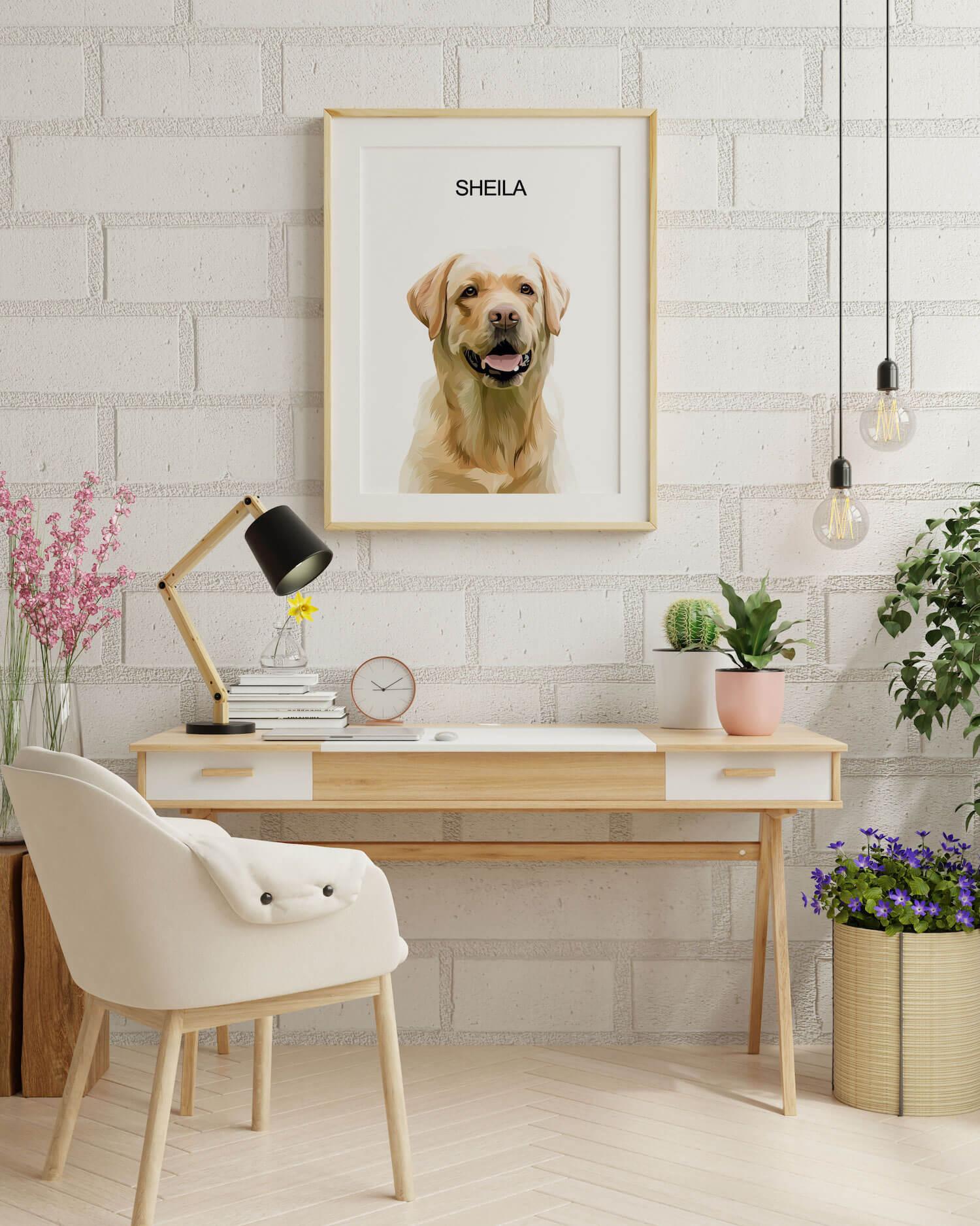 vektorovy obraz psa